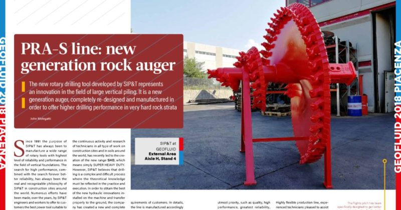 thumbnail of PRA-S Line new generation rock auger PF